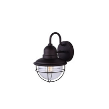 "Canarm IOL254ORB - Lohan, IOL254ORB, 1 Lt Outdoor Down  Light, Clear Glass, 60W Type A, 9 1/4""W x 8""H x 12 5/8&"