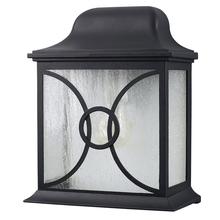 Canarm IOL9210 - Outdoor, IOL92 BK, 1 Bulb Outdoor Lantern, Frosted Glass, 60W Type A or B