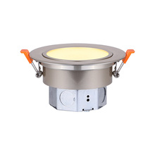 "Canarm LED-SW3P-BN-C - LED Recess Downlight, LED-SW3P-BN-C, 3"" Brushed Nickel Color Gimbal Trim, 6W Dimmable, 3000K, 40"