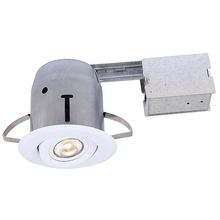 Canarm RD43RG2WH-LED - Recessed, RD43RG2WH-LED, IC and Non-IC REMODEL, Gimbal Trim, 1 x Bymea 8W 500Lumen 3000K PAR20 Bulb