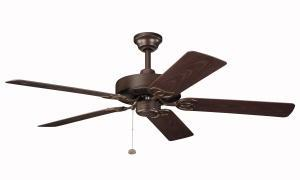 Tannery Bronze Powder Coat Outdoor Fan