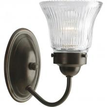 Progress P3287-20 - One Light Antique Bronze Clear Prismatic Glass Bathroom Sconce