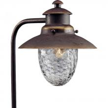 Progress P5257-20 - One Light Antique Bronze Clear Optic Hammered Glass Path Light