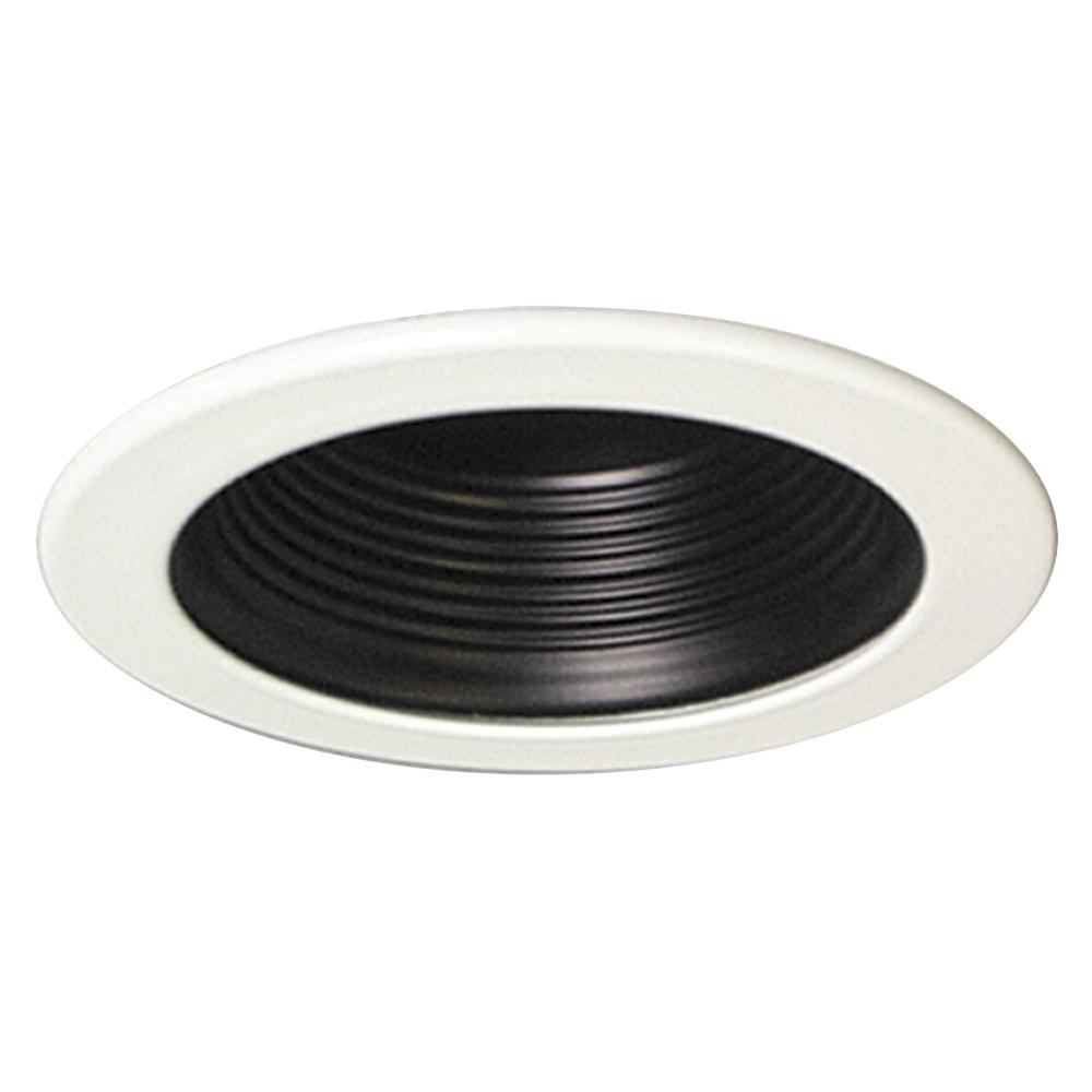 "Richardson Lighting in Saskatchewan, Canada,  6U7JN, 4"" Line Voltage Step Baffle Trim - Black, 4"" Housings & Trims"