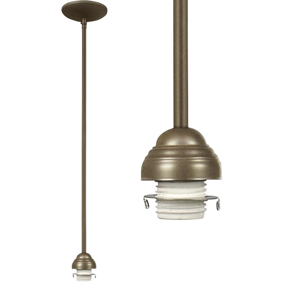 "Richardson Lighting in Saskatchewan, Canada,  6UDE7, Mini Pendant Holder w/ 6"",12"",18"" Extension Rods - Golden Ash,"