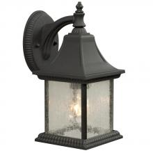 Galaxy Lighting 300110BK - Outdoor Cast Aluminum Lantern - Black w/Clear Seeded Glass