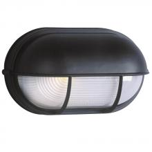 Galaxy Lighting 305562BLK - Cast Aluminum Marine Light with Hood - Black w/ Frosted Glass