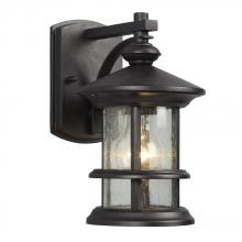 Galaxy Lighting 319730BK - Outdoor Wall Mount Lantern - in Black finish with Clear Seeded Glass