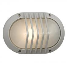 Galaxy Lighting 320220MS - Marine Light - Matte Silver with Frosted Glass
