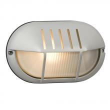 Galaxy Lighting 320250MS - Marine Light - Matte Silver with Frosted Glass