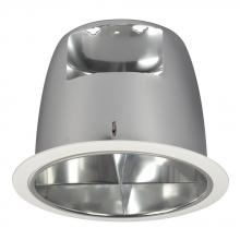 "Galaxy Lighting 604CH - 6"" Cross Baffle Trim For Rh Housing - White Ring With Polished Chrome Reflector"