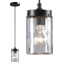 Galaxy Lighting 919854ORB - 1-Light Mini-Pendant - in Oil Rubbed Bronze finish with Clear Glass Shade