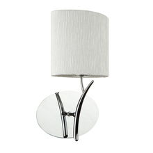 Steven & Chris SC201 - One Light Chrome White Crinkled Linen Shade Wall Light