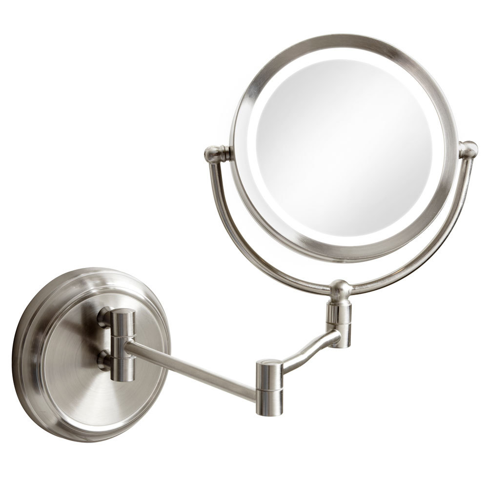 Swing Arm LED Lighted Magnifier Mirror