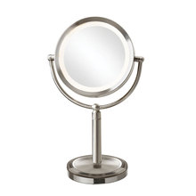 Dainolite LEDMIR-2T-SC - LED Table LED Lighted Magnifier Mirror