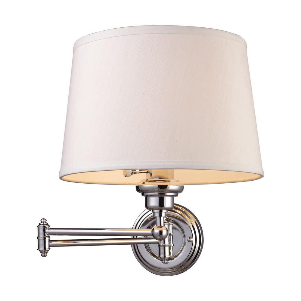 Richardson Lighting in Saskatchewan, Canada,  9209, Westbrook 1 Light Swingarm Sconce In Polished Ch, Westbrook