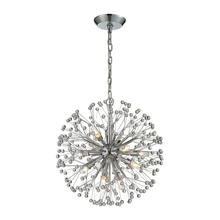 ELK Lighting 11545/9 - Starburst 9 Light Chandelier In Polished Chrome