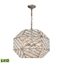 ELK Lighting 11837/8-LED - Constructs 8 Light LED Chandelier In Weathered Z