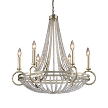 ELK Lighting 31014/6 - New York 6 Light Chandelier In Renaissance Silve