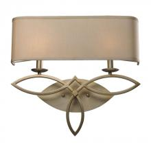 ELK Lighting 31121/2 - Estonia 2 Light Sconce In Aged Silver With Beige
