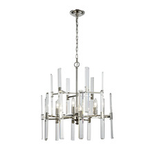 ELK Lighting 33032/6 - Crystal Heights 6 Light Chandelier In Polished N