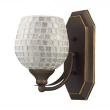 ELK Lighting 570-1B-SLV - Bath And Spa 1 Light Vanity In Aged Bronze And S