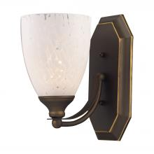 ELK Lighting 570-1B-SW - Bath And Spa 1 Light Vanity In Aged Bronze And S