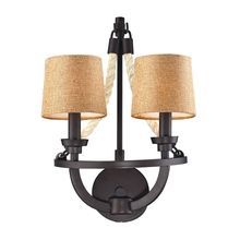 ELK Lighting 63010-2 - Natural Rope 2 Light Wall Sconce In Aged Bronze