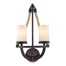 ELK Lighting 63040-2 - Natural Rope 2 Light Wall Sconce In Aged Bronze