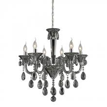 ELK Lighting 80012/6 - Six Light Smoke Plated/chrome Up Chandelier
