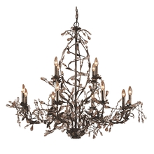 ELK Lighting 8055/8+4 - Circeo 12 Light Chandelier In Deep Rust