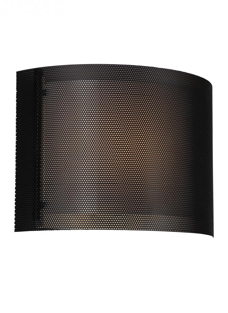 new style c52f5 e6573 LED ADA Wall Sconce with Black Metal Screen and White ...